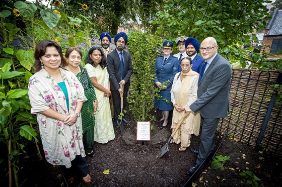 Commemorartive tree planting for 550th anniversary of birth of Sikh founder (1)