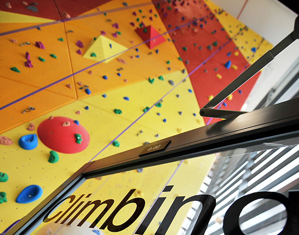 Image of the climbing wall