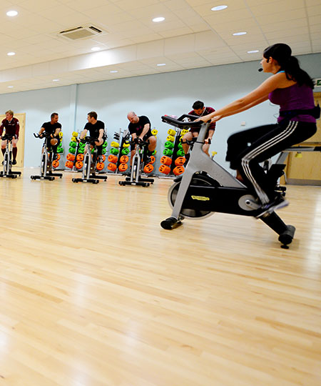 An image of a fitness class taking place