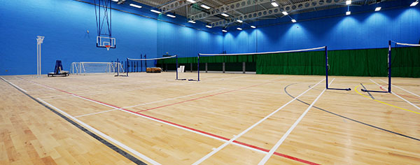 An image of the sports hall