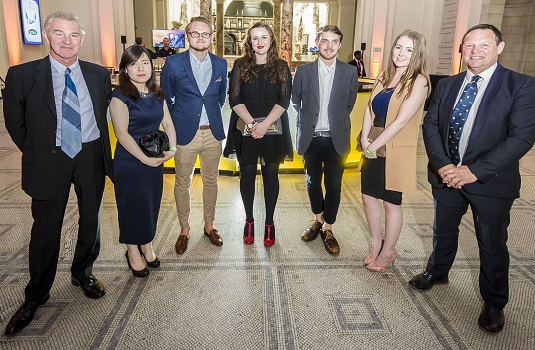 Special Night Course Leader Kevin Guildford With Left To Right Dmu Footwear Design Students Haley Sam Walker Bethany Roberts Alex Blackman