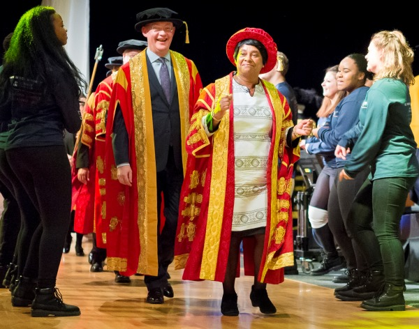 Exclusive new video of Chancellor's Investiture