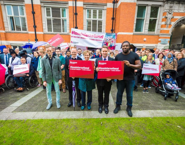 DMU launches #LoveInternational campaign to protect residency rights for EU staff