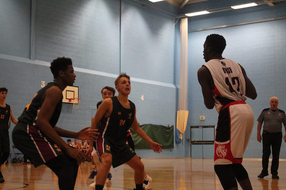 BUCS inset basketball