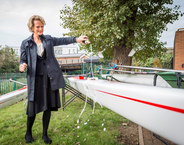 Former Olympian launches new fleet for DMU's rowers