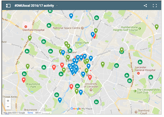 Map Of Uk Leicester.Interactive Map Shows How Students Are Helping Communities Across