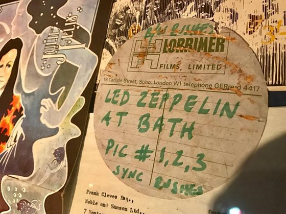 Led Zep can film rushes label