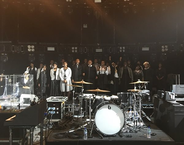 DMU Gospel Choir are On Fire performing on Kasabian tour
