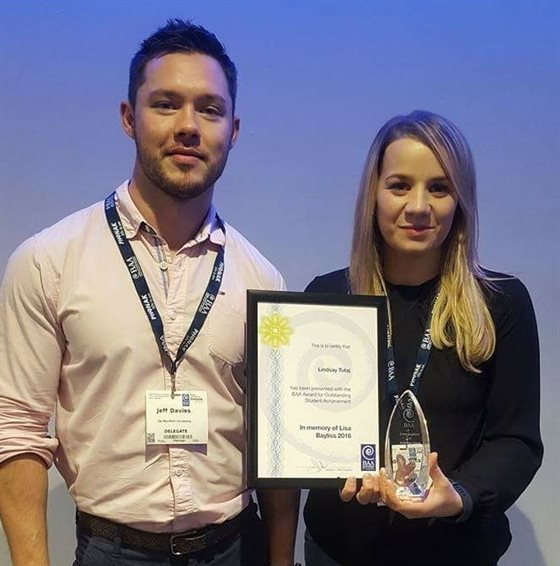 Audiology student wins national award for degree placement work