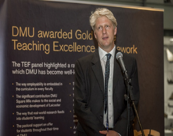Government Minister attends DMU Gold event