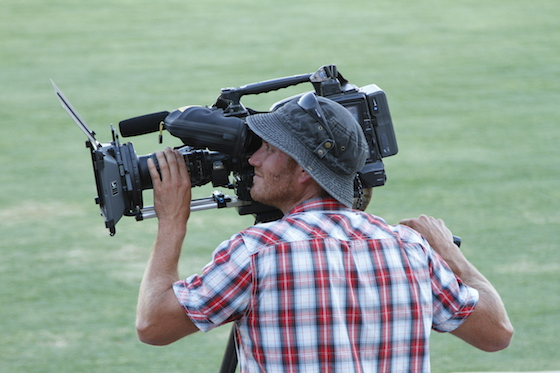 INSET Cricket cameraman, photo by Percita