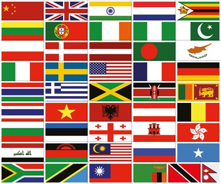 NEW-BORDER-World flags