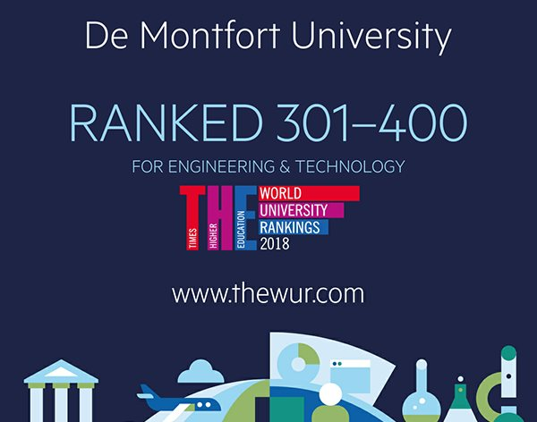 DMU ranked globally for engineering and technology subjects