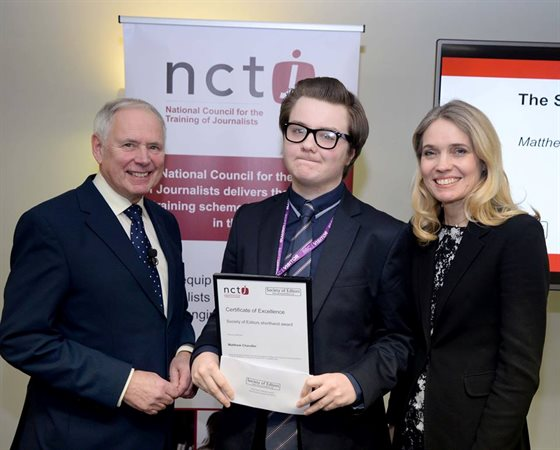 NCTJ Student Council 2 Matthew Chandler award