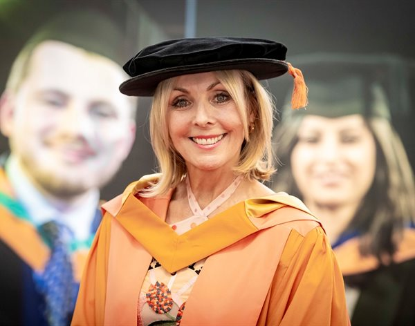 Broadcast news: TV presenter becomes Doctor of Letters