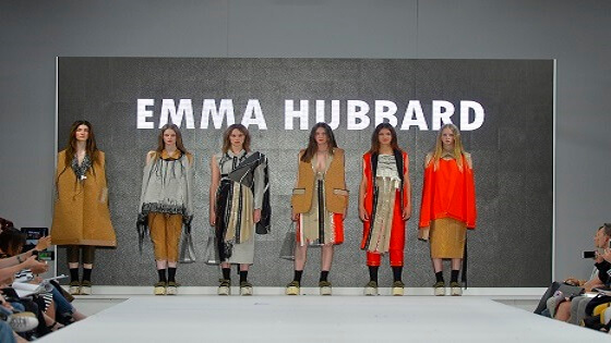 Photo from the Graduate Fashion Week 2018 of Emma Hubbard's collection