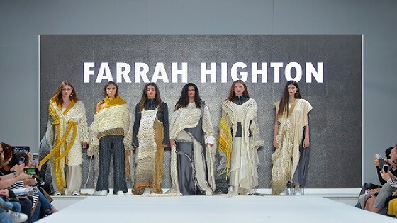 Photo from the Graduate Fashion Week 2018 of Farrah Highton's collection
