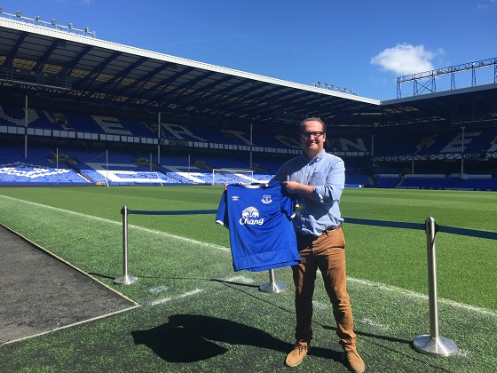 Leighton James at Goodison Park.WEB