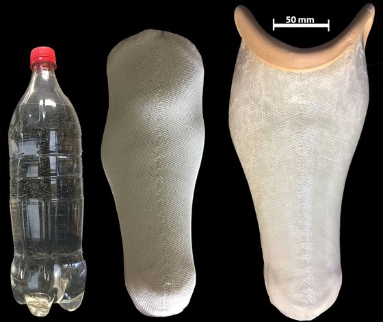 The first of its kind prosthetic socket, made from plastic water bottle (resize)