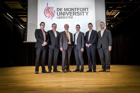 Professor Helge Janicke, Head of DMU's Cyber Technology Institute, with Industrial Advisory Group representatives