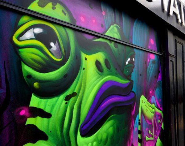 Students get behind amazing graffiti festival Bring the Paint