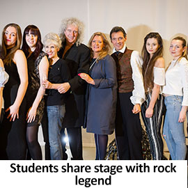 Students share stage with rock legend