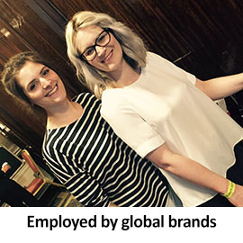 Employed by global  brands