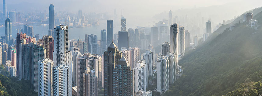 Photo of the Hong Kong skyline