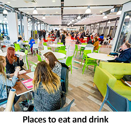 Places to eat and drink