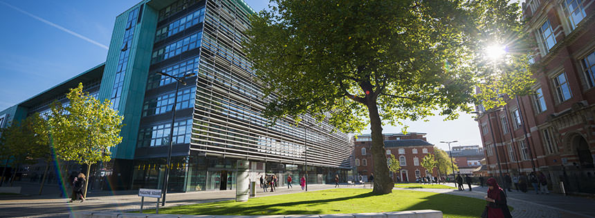 Image of the Hugh Aston Building at De Montfort University