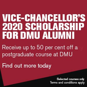 Vice Chancellor's 2020 Scholarship for DMU Art, Design and Humanities alumni