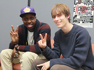 Cultural Exchanges festival 2012 guest Jamal Edwards with Simon Cooper