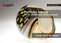 Portfolio advice Design Crafts BA (Hons) - UK and EU applicants