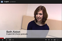 Listen to English BA (Hons) graduate Beth Alston