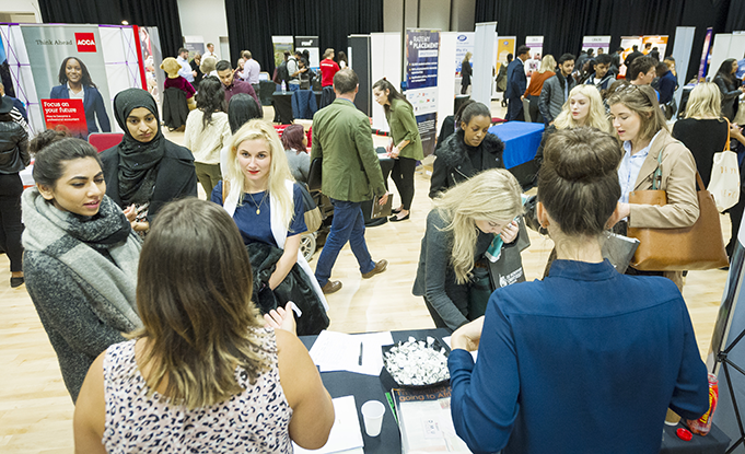 Careers Fair Crowd