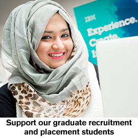 Support our graduate recruitment and placement students