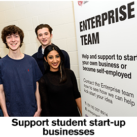 Support student start-up businesses