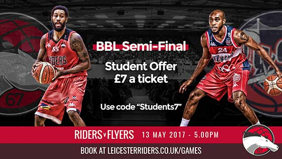 discounted tickets to see leicester riders in the semi final of the