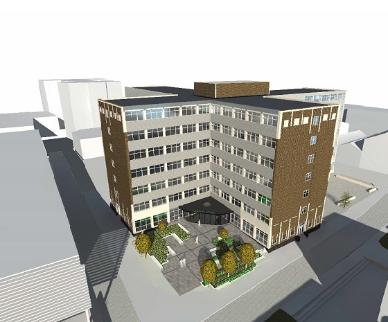 Artist's impression of Gateway House Entrance560x