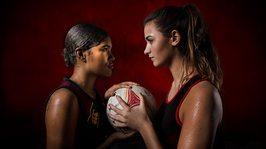 DMU and UoL netball players facing off