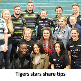 Tigers stars share tips