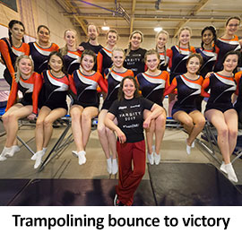 Trampolining bounce to victory