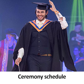 Ceremony schedule