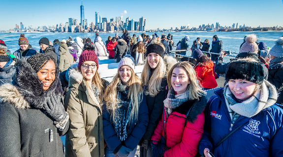 Students on the #DMUglobal trip to New York