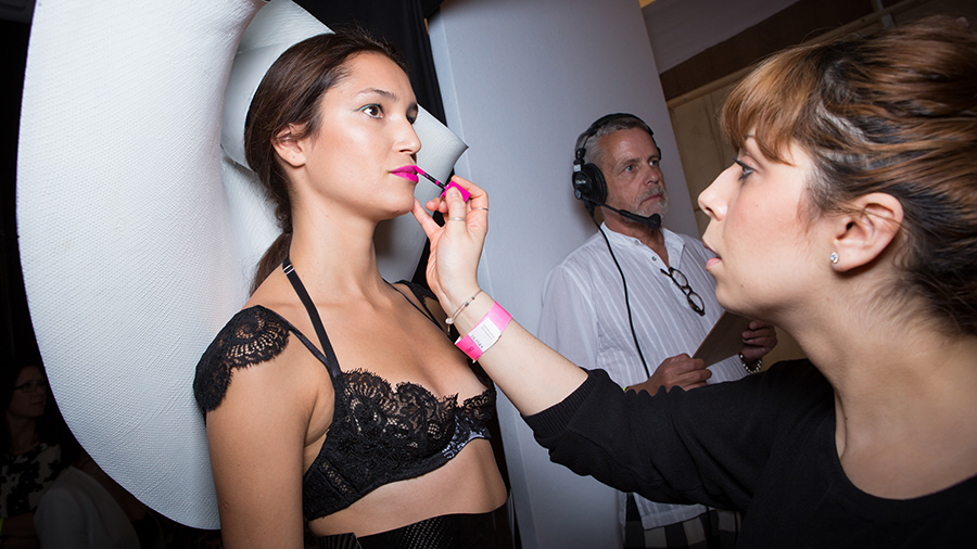 Backstage at the Contour Fashion catwalk