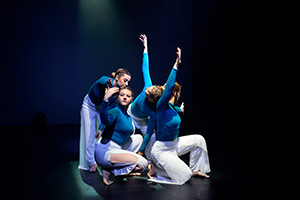 DMU dance students performing at the University Dance Festival