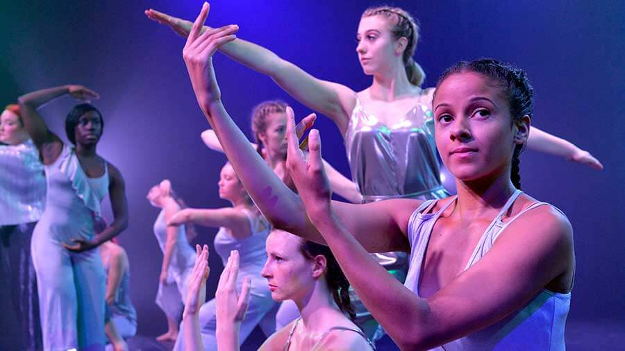 Student performance at DMU's University Dance Festival