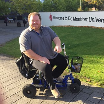 Wheelchair grant praised by disabled DMU student