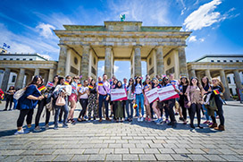 Students on an #DMUglobal trip, DMU's ground-breaking international experience programme